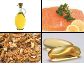 Good dietary sources of omega–3 fatty acids are oily fish (salmon, sardines, tuna), fish oils, walnuts, and some plant oils (flaxseed, canola).